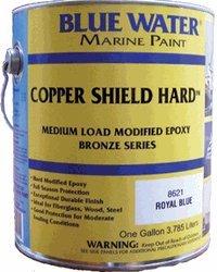 Copper Shield(tm) Hard(tm) Royal Blue Quart - 35 Copper Hard - Marine Paint Antifouling Bottom Paint - iPaint.us