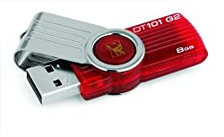 Kingston DataTraveler 101 Gen 2 8GB USB Drive - Red