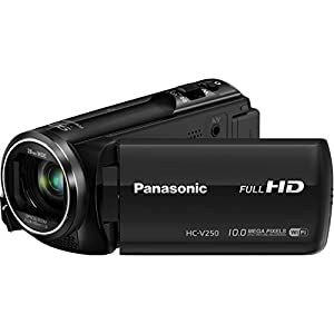 Panasonic HC-V250K Full HD Wi-Fi Enabled 50X Camcorder (Black)