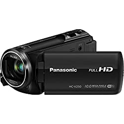 Panasonic HC-V250K Full HD Wi-Fi Enabled 50X Camcorder (Black)