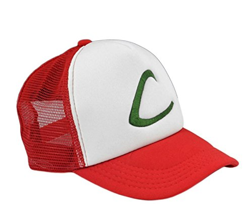[New Visor Cap POKEMON ASH KETCHUM COSTUME Cosplay Hat] (Old Ash Ketchum Costume)