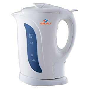 Buy Bajaj 1-Litre 1200-Watt Cordless Kettle AT Rs 749 from Amazon
