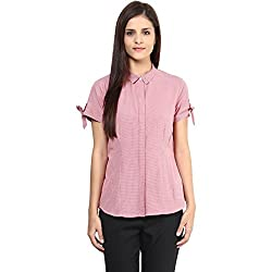 Annabelle by pantaloons Women's Casual Shirt (205000005551294_Red_XS)