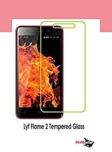Insta Seller Tempered Glass Screen Protector for Lyf Flame 2