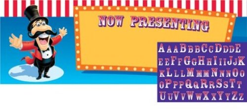 Creative Converting Giant Big Top Birthday Party Banner with Stickers, 20 X 60 Inches