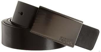 Kenneth Cole REACTION Men's Calf Grain Reversible Belt, Black/Gray, 32