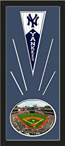 New York Yankees Wool Felt Mini Pennant & Yankee Stadium 2012 Photo - Framed With... by Art and More, Davenport, IA