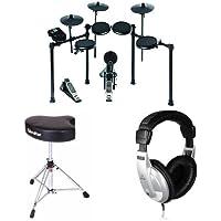 Alesis Nitro Electronic Drum Set + Drum Throne + Behringer HPM1000 Headphones