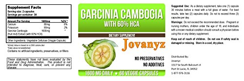 Garcinia Cambogia Two Capsules With 800Mg Each With Calcium And Potassium (80 Mg Each)