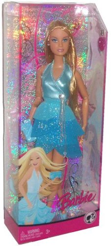Barbie Fashion Fever Doll in Blue Sparkle Dress