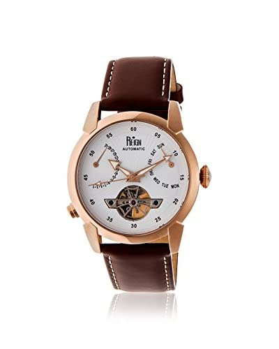 Reign Men's REIRN1805 Canmore Gold-Tone/Brown Leather Watch
