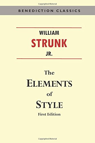 the-elements-of-style-first-edition