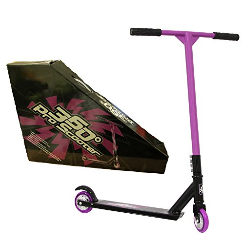 360 PRO STUNT SCOOTER - GIRLS - PINK - REINFORCED ALUMINIUM DECK - GREAT FOR TRICKS, JUMPS - IDEAL ALL YEAR ROUND