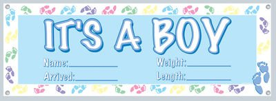 Beistle 50178 It's a Boy Sign Banner, 5-Feet 3-Inch by 21-Inch