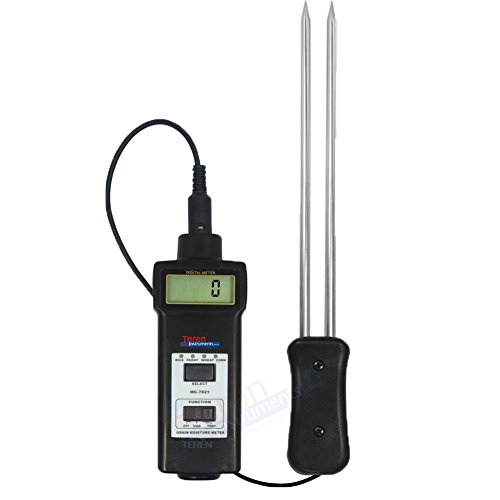 TR-MC-7821 Digital 2 in 1 Grain Corn Rice Coffee Coco Beans Moisture Meter Temperature Tester Maize Water Content Analyzer 8 ~ 20% for Feedstuff Poder Paddy (Rice Poder compare prices)