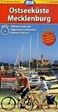 Ostseeküste /Mecklenburg: ADFC-Radtourenkarte 1:150.000