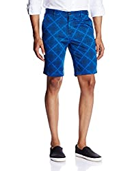 Parx Men's Cotton Shorts (8907116559069_XMHY00173-B6_38_Dark Blue)