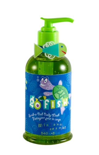 Upper Canada Soap & Candle Go Fish ScrubaDub Body Wash, Turtle Melon Madness, 8Ounce Pump Bottle (Pack of 3)
