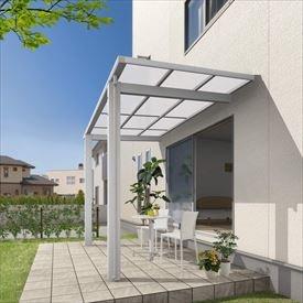 三協アルミ 独立式テラス メニーウェルD 1.5間×4尺 600タイプ/関東間/標準柱(H24)/単体 熱線遮断ポリカ屋根  アーバングレー
