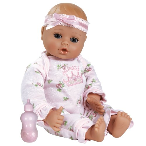 Adora Playtime Baby Doll 13-Inch Light Skintone Blue Eyes Pink Romper front-842162
