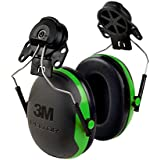 3M Peltor X-Series Cap-Mount Earmuffs, NRR 21 dB, One Size Fits Most, Black/Green X1P3E (Pack of 1)
