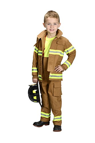 Jr. Firefighter Tan Suit Kids Costume
