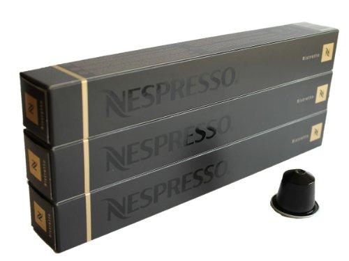 Nespresso Capsules black - 30x Ristretto - Original Nestlé - Espresso Coffee