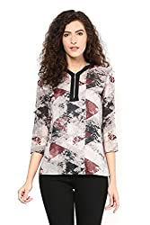 Printed Front Zip Tunic