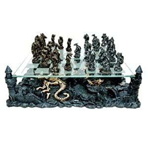 Chh chh2127c dragon chess set toys games - Decorative beautiful chess sets ...