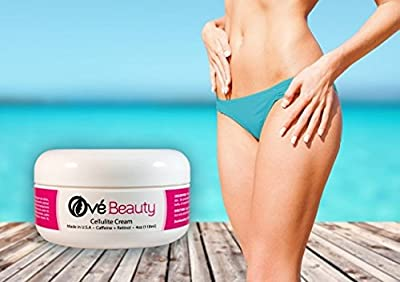 Best Cellulite Cream with Caffeine and Retinol- Premium Spa Quality with Clinically Proven Ingredients-USA Made 4 Oz-Unconditional Money Back Guarantee