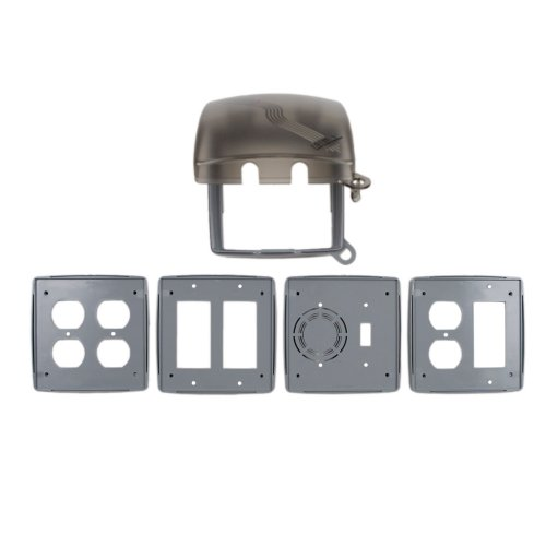 Hubbel Electric Raco Two Gang Gray Multi Directional While In Use Cover 5775-0