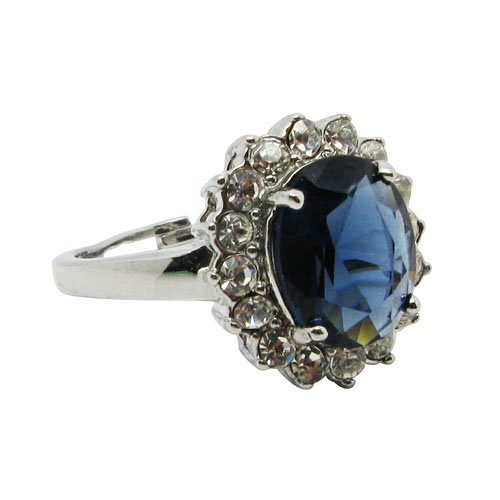 Sapphire Crystal Engagement Ring - The Royal Ring