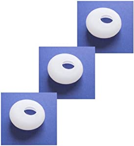 """3pcs New White Medium Size Good Quality Earbuds for Motorola OASIS HX520 HX-520 CommandOne HZ700 Command One HZ-700 Wireless Bluetooth Headset Ear Gel Bud Tip Gels Buds Tips Eargel Earbud Eartip Eargels Eartips Replacement Part Parts + Black Sea International Logo Good Quality Micro Fiber Cleaning Cloth (random color) 7X6"""""""