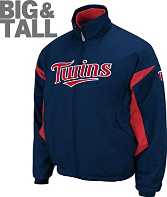 Minnesota Twins Jacket Plus Size Windbreaker MLB Authentic 3X-6X Majestic Navy