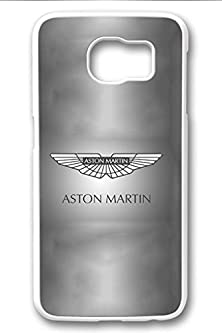 buy S6 Case,Hard Shell Plastic Pc [White] Cover Snugly Sleek Slim Light Weight Frosted Colorful Vibrant Fit Headphones Port Male Gift Samsung Galaxy S6-Aston Martin Symbol 16