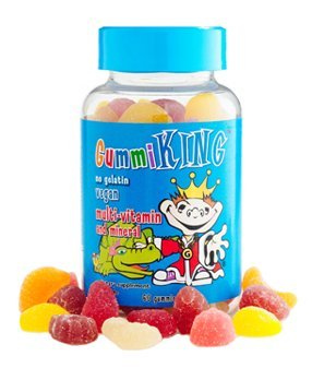 Gummiking No Gelatin Vegan Multi-Vitamin And Mineral Dietary Supplement 60 Gummies