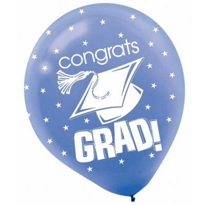 "Blue Graduation 12"" Balloons"