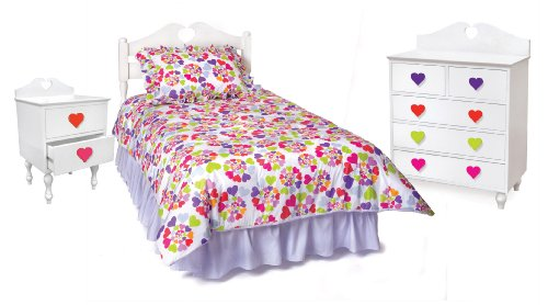 Room Magic Heart Throb Bedroom Set, White