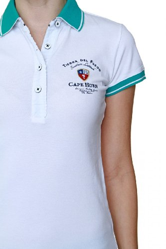 Cape horn polo dress shirt button down color white1 for Polo shirts without buttons