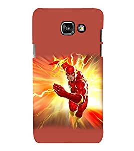 printtech Lightening Superhero Back Case Cover for Samsung Galaxy A3 2016 Edition