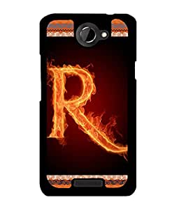 Fuson 2D Printed Alphabet R Designer back case cover for HTC One X - D4208