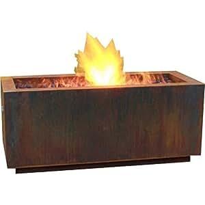 Bentintoshape 48 x 20 rectangular lp fire pit hidden for Amazon prime fire pit