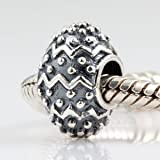 Everbling Wave and Dots Authentic 925 Sterling Silver Charm Fits Pandora Chamilia Biagi Troll Beads Europen Style Bracelets