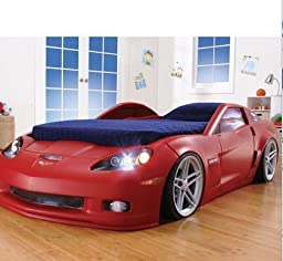 Corvette Convertible Toddler to Twin Bed with Lights by Step2