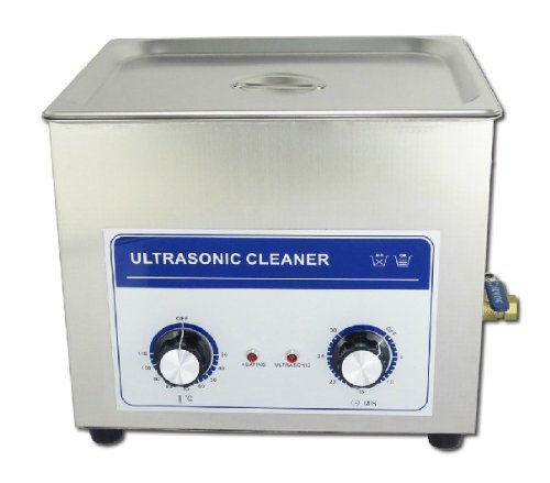 200W /10L Commercial Grade Lab Heating Ultrasonic Cleaner 220V/110V Eyeglasses Jewelry Cleaner