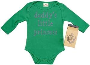 SR - Daddy's Little Princess Camisillas Bebé / Bodysuit - 100% Bio-algodón - en caja de regalo de Spoilt Rotten