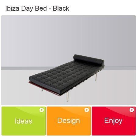 Ibiza Sofa Day Bed -BLACK eero barcelona eames arne saarinen egg womb lounge modern