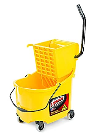 """Libman Commercial 933 26 quart Mop Bucket and Wringer, 36"""" Length, 16"""" Width, Yellow"""
