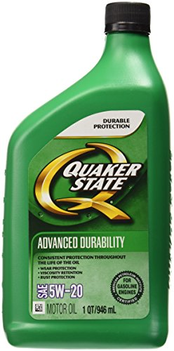 Quaker state 550035082 advanced durability 5w 20 lubricant for Quaker state conventional motor oil