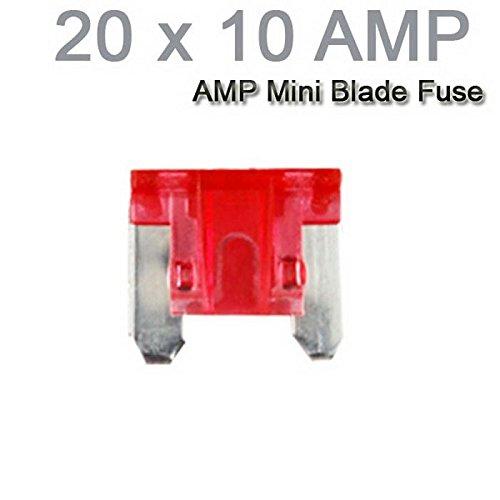 Auto-LKW-Motorrad-Auto Mini Sicherungen Flachsicherung Sortiment 20PCS X 10AMP